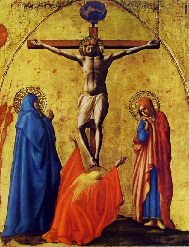 Masaccio: Polittico di Pisa - La crocifissione