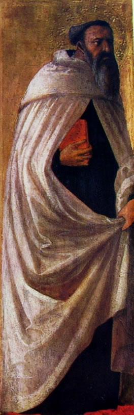 Masaccio: Polittico di Pisa -Santo Carmelitano