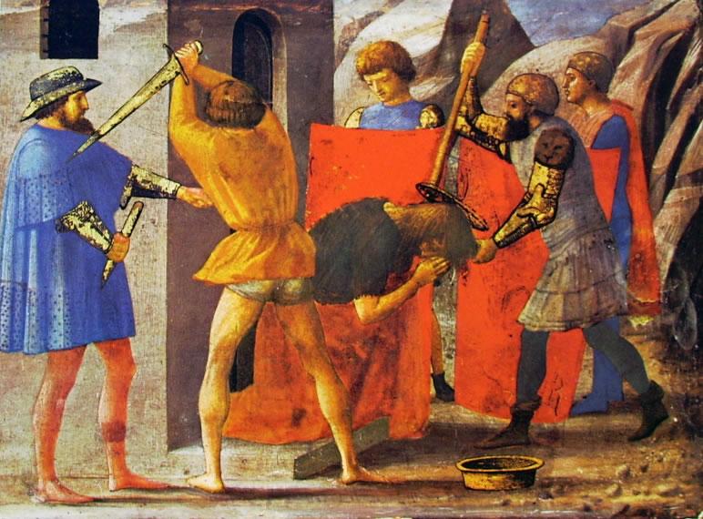 Masaccio: Polittico di Pisa: Il martirio del Battista (Berlino)