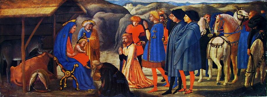 Adorazione dei magi del Polittico di Pisa di Masaccio