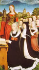 10 Memling - Barbara Van Vlaenderbergh con le figlie e Santa Barbara