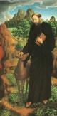 Lato destro del San Cristoforo tra i santi Mauro di Glanfeuil ed Egidio