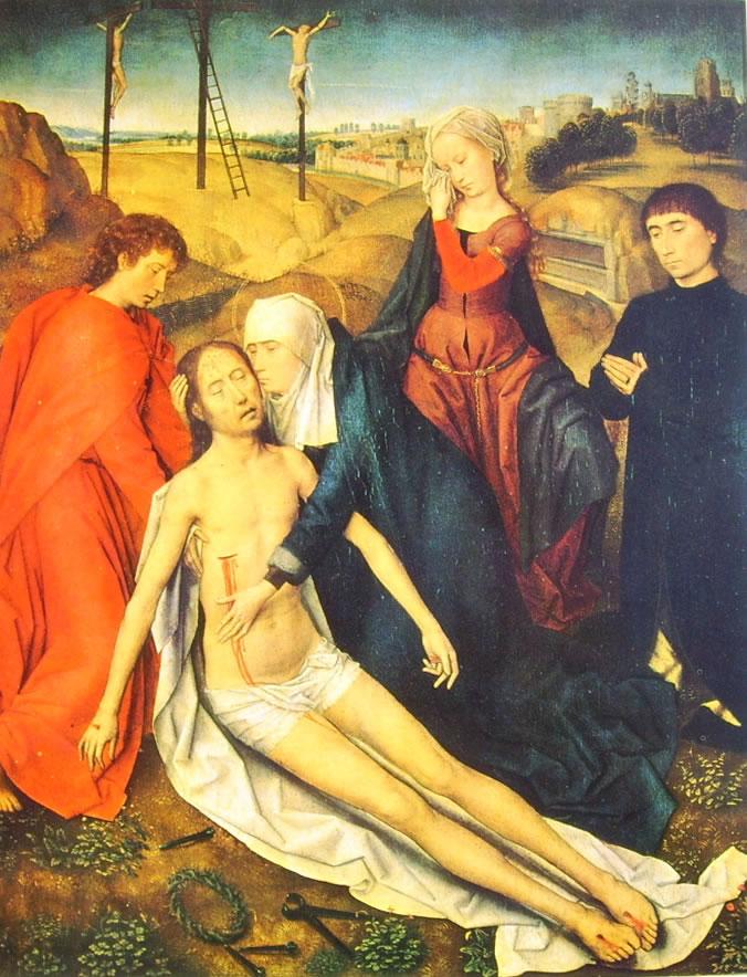 Hans Memling: Il compianto su Cristo morto (Galleria Doria)
