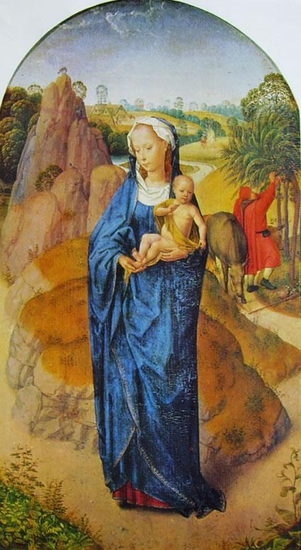 Hans Memling: La Madonna col Bambino in un paesaggio