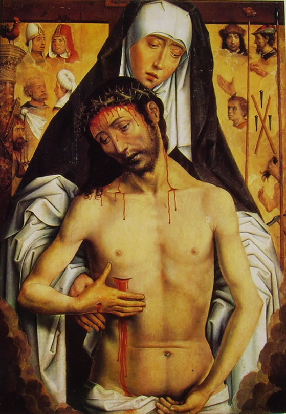 Hans Memling: Maria che sorregge il Cristo morto (Granada)