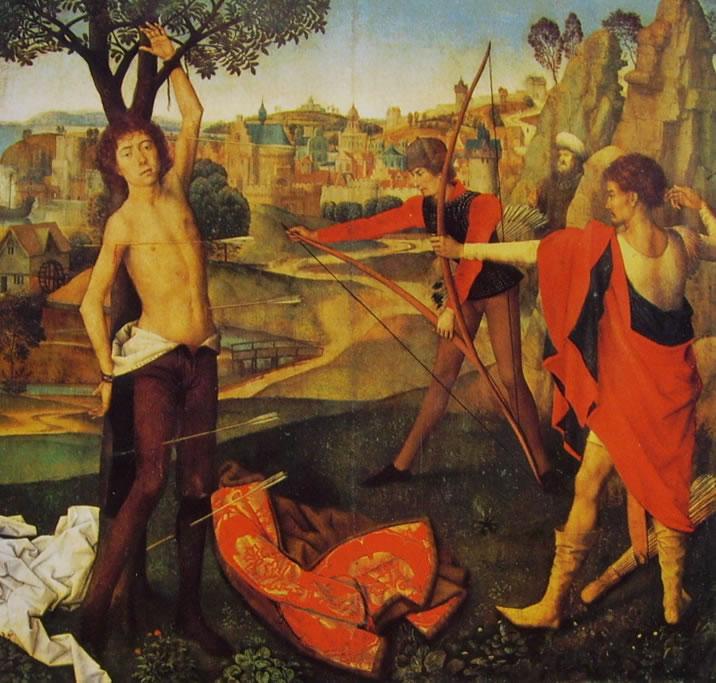 Hans Memling: Il martirio di San Sebastiano (Bruxelles)
