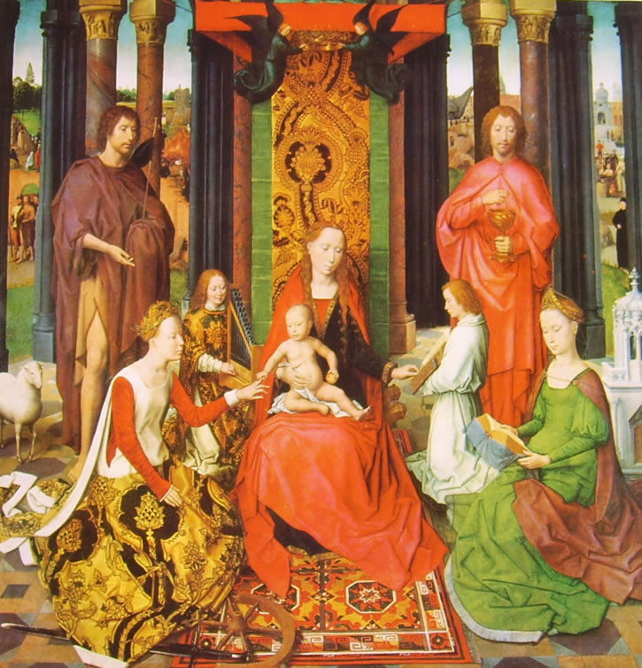 Trittico del Matrimonio mistico di Santa Caterina (Brugge) di Hans Memling