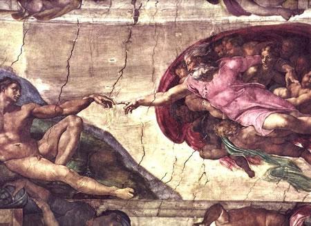 Michelangelo - la Creazione di Adamo