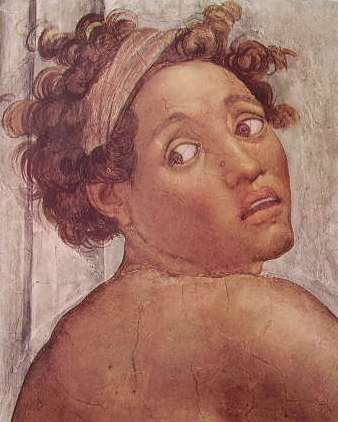 Michelangelo Buonarroti:Cappella Sistina - Un Ignudo