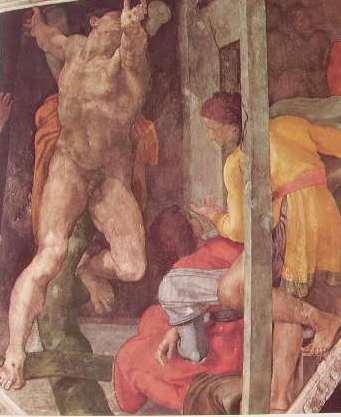 Michelangelo Buonarroti: La Punizione di Aman nella Cappella Sistina