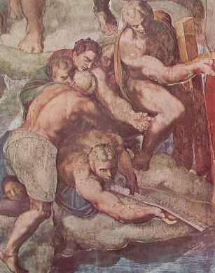 Giudizio Universale (Longino, Simone Zelota e Filippo)