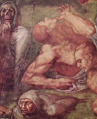 Michelangelo - resurrezione dei morti Il Giudizio Universale