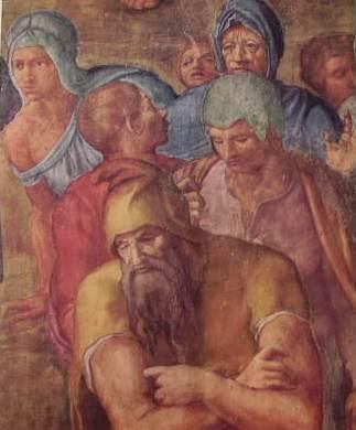 Michelangelo - Figure, nella crocifissione di S. Pietro, Cappella Paolina