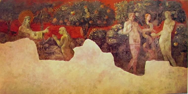 Paolo Uccello: Creazione di Eva e peccato originale