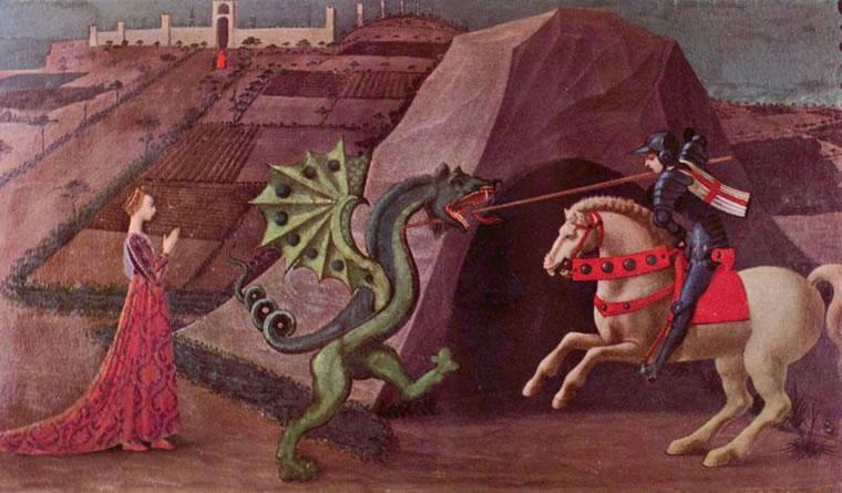 Paolo Uccello: San Giorgio e il drago (Musée Jacquemart-André)