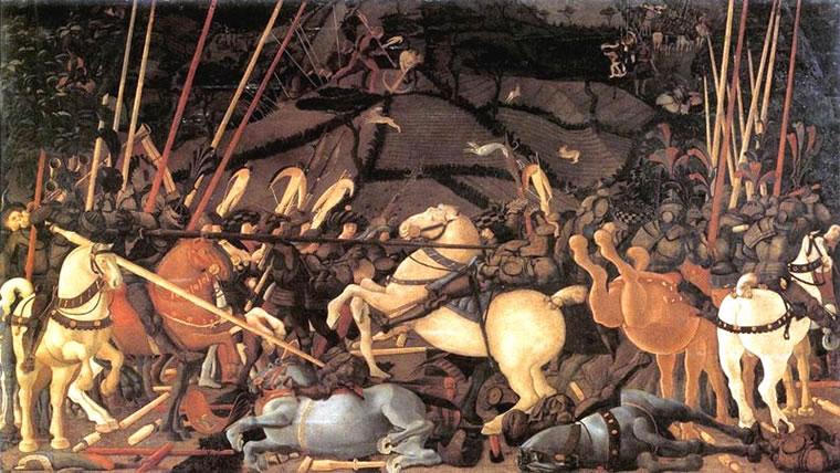 Battaglia di San Romano - Disarcionamento di Bernardino della Ciarda