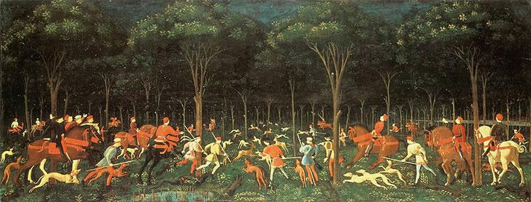 Paolo Uccello: La caccia (Oxford)