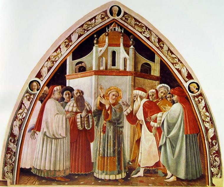 Paolo Uccello: Cappella dell'Assunta -La Disputa di Santo Stefano