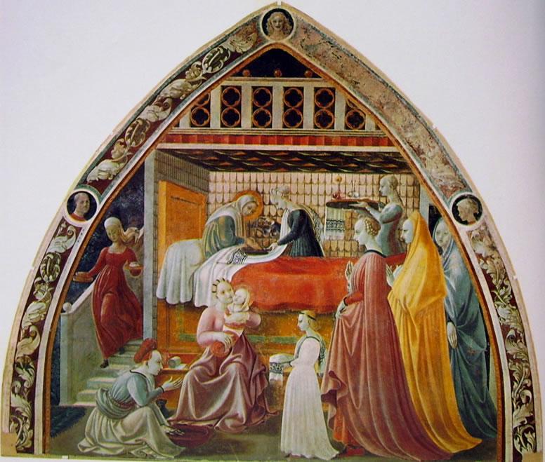 Paolo Uccello: Cappella dell'Assunta - Natività della Vergine