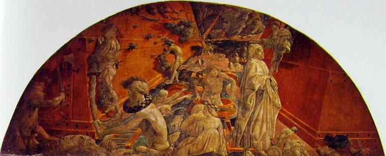 Paolo Uccello: Storie di Noè - Diluvio e Recessione delle acque in Santa Maria Novella