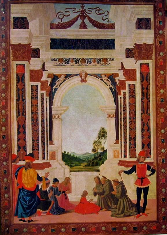 """Il Perugino: """"Storie di San Bernardino"""" Guarigione di una giovane"""