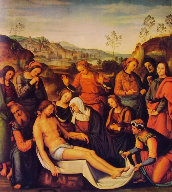 Perugino: Compianto su Cristo morto (Palazzo Pitti)