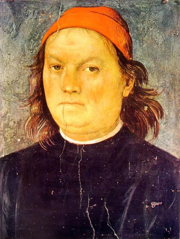 Ornamentazione del Cambio - Autoritratto del Perugino