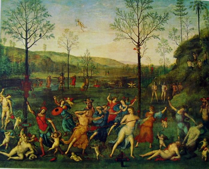 Il Perugino: Lotta fra amore e castità