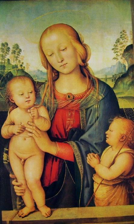 Il Perugino: Madonna con il Bambino e San Giovannino (Londra)