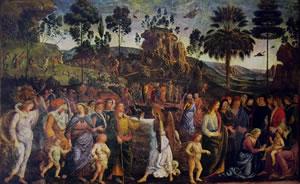Dipinti della Cappella Sistina del Perugino - Viaggio in Egitto