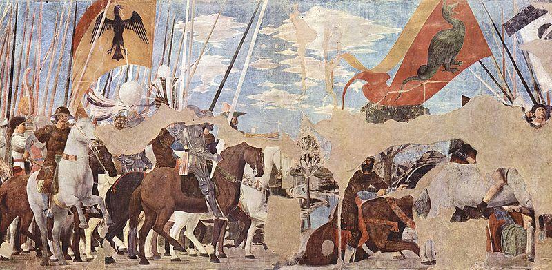 Piero della Francesca - Storie della vera Croce: Battaglia di Costantino e Massenzio