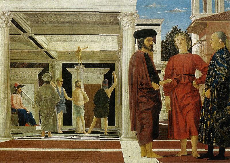 Piero della Francesca: La Flagellazione di Cristo (Urbino)
