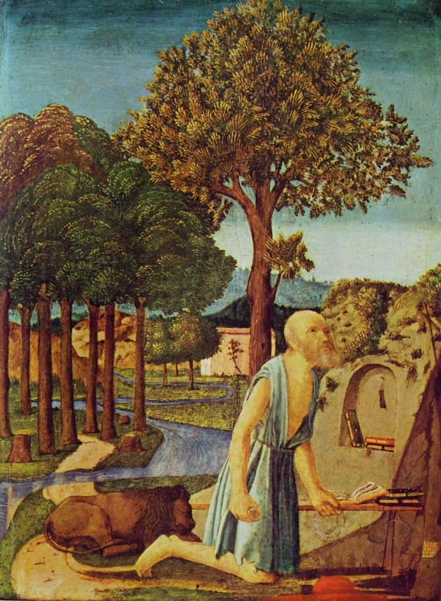 Piero della Francesca: San Gerolamo penitente (Staatliche Museen)