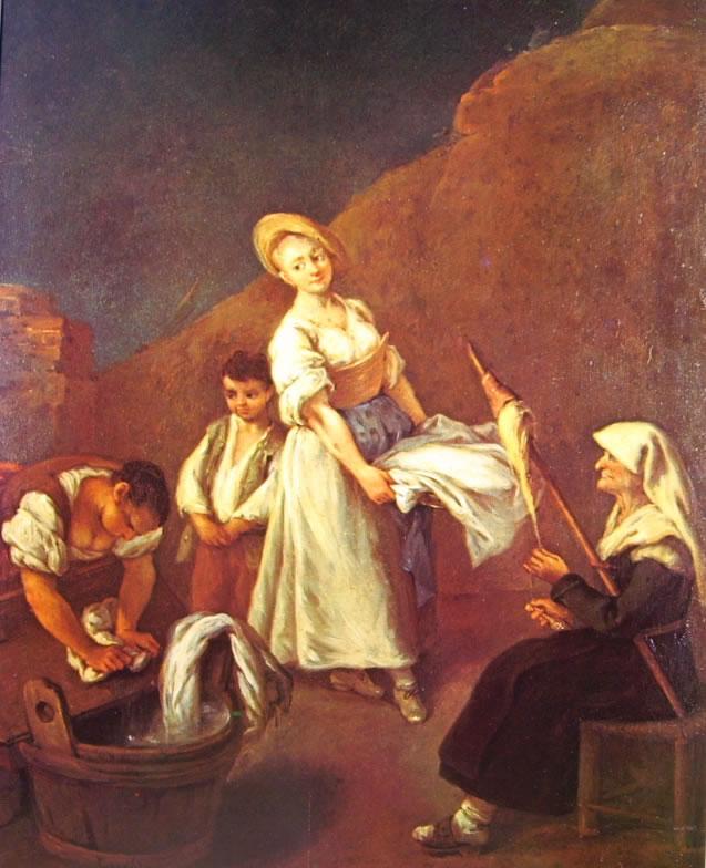 Pietro Longhi: Le lavandaie della Ca' Rezzonico