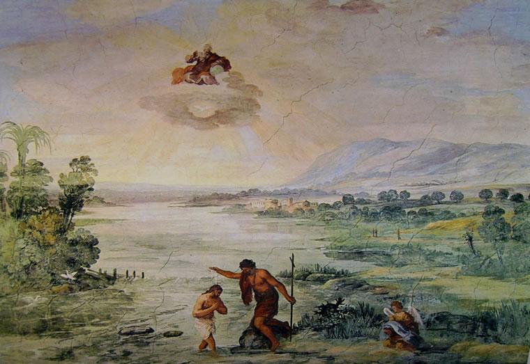 Pietro da Cortona: Il battesimo di Cristo