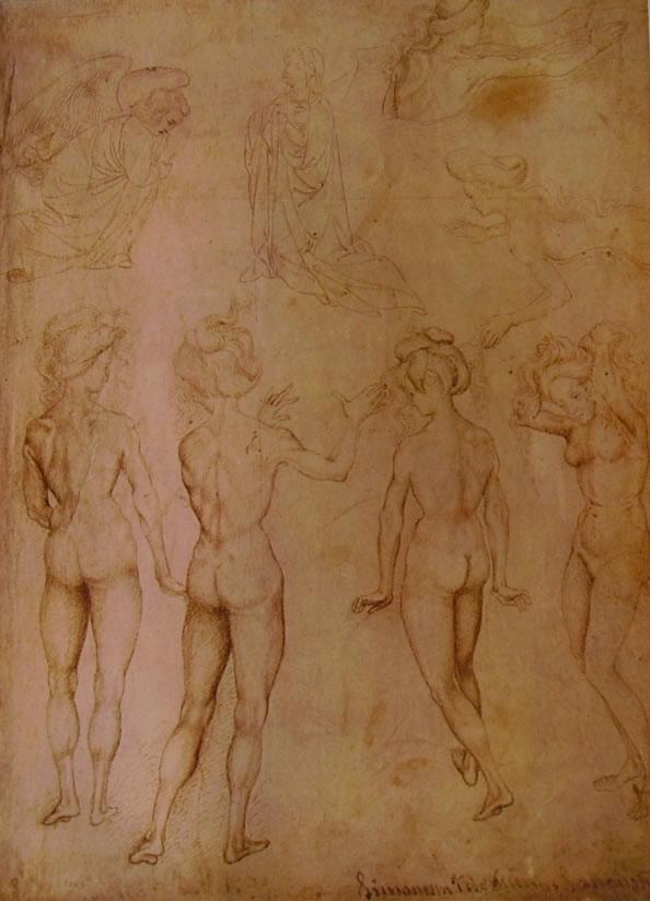 Pisanello: L'Annunciazione e nudi femminili