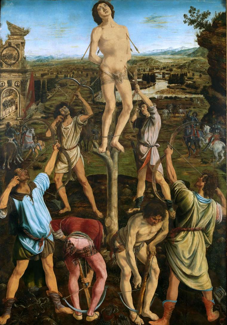 Antonio del Pollaiolo: Martirio di San Sebastiano