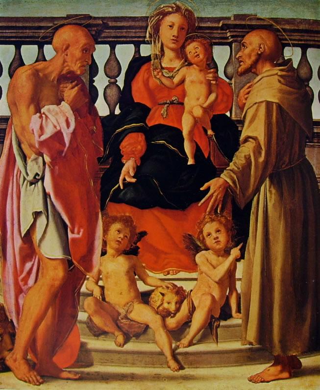Il Pontormo: Madonna con il bambino e due santi