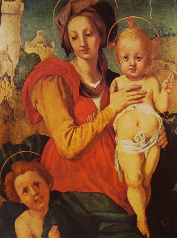 Il Pontormo: Madonna con il bambino e San Giovannino