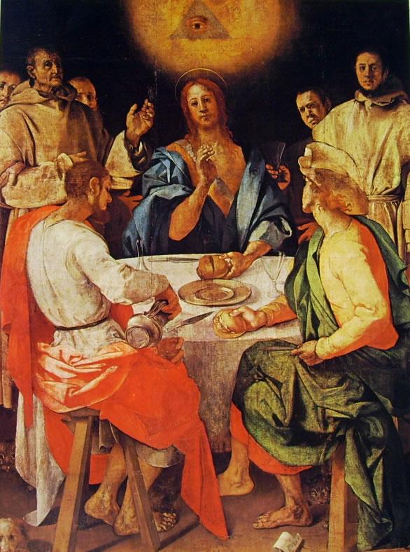 La Cena in Emmaus di Pontormo