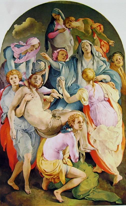 Decorazione della Cappella Capponi - La Deposizione, cm. 313 x 192, Santa Felicita, Firenze