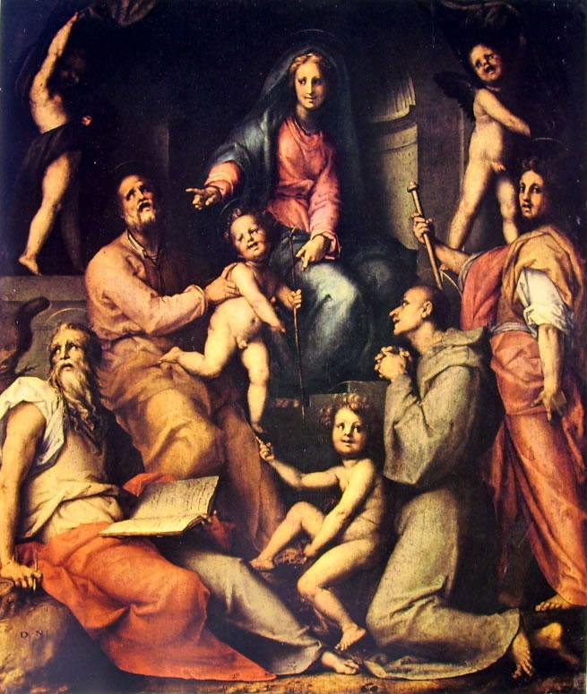 Pontormo - Pala Pucci - madonna con bambino e santi