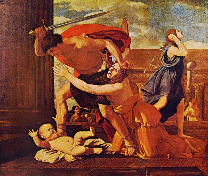 La strage degli innocenti di Nicolas Poussin