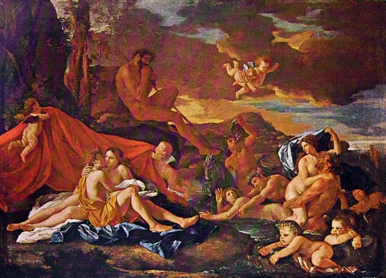 Aci e Galatea di Nicolas Poussin