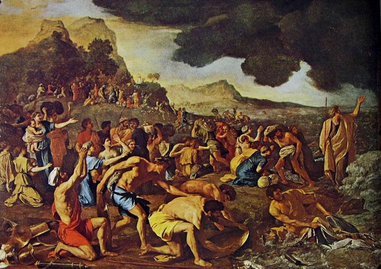 Nicolas Poussin: Il passaggio del Mar Rosso (Melbourne)