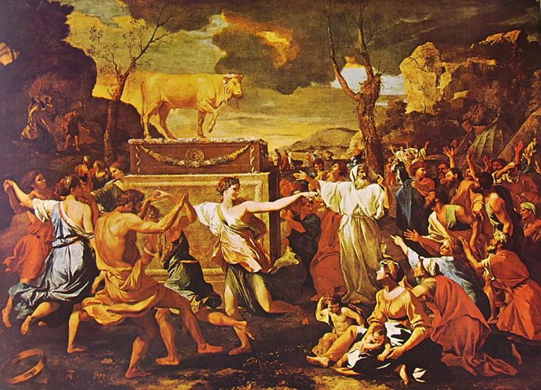 Nicolas Poussin: Adorazione del vitello d'oro (Londra)