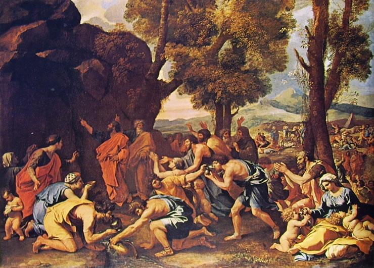 Nicolas Poussin: Mosè fa scaturire l'acqua dalla roccia