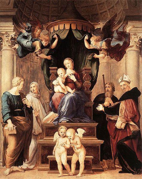 """Raffaello Sanzio: """"Madonna del Baldacchino"""","""