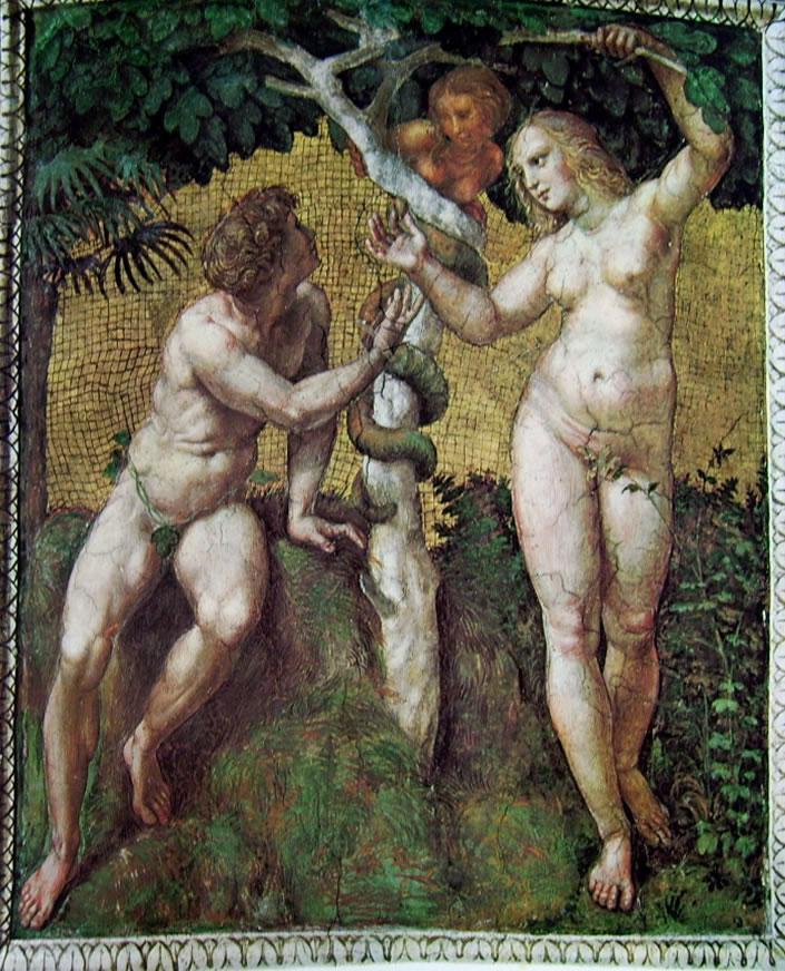Raffaello Sanzio: Stanza della Segnatura - Adamo ed Eva