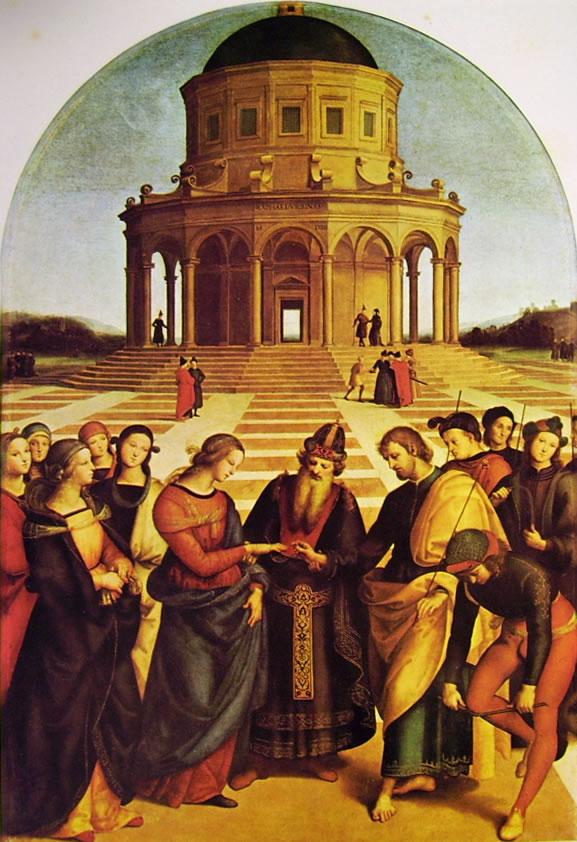 Raffaello Sanzio: Lo Sposalizio della Vergine